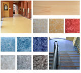 Plancher de marbre à haute brillance de vinyle de configuration de prix usine