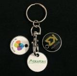 Preiswerte einfache Laufkatze-Münzen-Schlüsselring zum fördernden Zweck