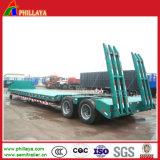 De mechanische Vrachtwagen van de Aanhangwagen van Lowboy van de tri-As van de Opschorting van het Staal