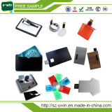 Lecteur flash USB libre de logo de carte en plastique