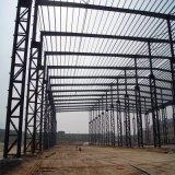 Construction grise blanche d'entrepôt de structure métallique de mur