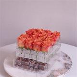 Pacchetto acrilico personalizzato del fiore del contenitore di fiore di 16 Rosa con il cassetto
