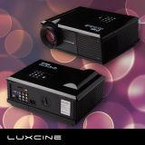 Projetor do diodo emissor de luz de HD, com HDMI, offset da lente, lente grande para o cartão da definição 720p, da lógica de HD com o filtro 3D e o penteado