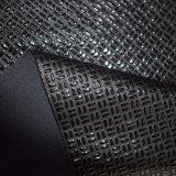 正方形によって浮彫りにされるマイクロNappaの穀物PUののどは衣服の革を模倣する