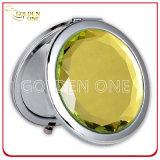 Personifiziertes Geschenk-gedrucktes u. Epoxidzeichen-runder Metallkosmetik-Spiegel