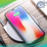 Cargador de teléfono inalámbrico Ultra Slim Fast Pad de carga cargador para iPhone X 8 plus