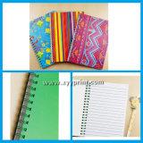 Cuaderno de papel de PU de la escuela de alta calidad de encargo con la pluma