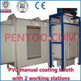 2 Stations di funzionamento Manual Coating Booth per Quick Color Change