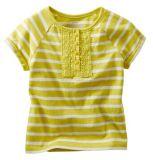 Haut de la dentelle à rayures Girl's Shirt Kid's T-Shirt Tops G31
