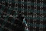 Tissu de polyester à fils teints de rayonne, jacquard