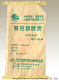 La Chine a fait le plastique PP sac tissé de couleur pour mortier avec