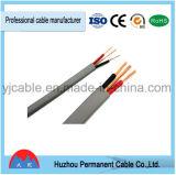 El alambre eléctrico del cable plano de BVVB+E en el PVC aisló