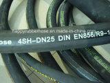 Tubo flessibile di gomma idraulico ad alta pressione resistente 4sh del filo di acciaio quattro