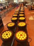 6in1 UVleiden van de Verlichting RGBWA van het LEIDENE 18*18W PARI van de Disco