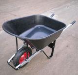 150kg Load Capacity Wheelbarrow mit Pneumatic Wheel und Plastic Tray