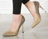 Женщин мода платья Блестящие цветные лаки блестящие высокие пятки колодок Sexy высокого каблука 11см обувь тонкие пяткой точку схождения производителей обуви
