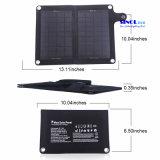 7W 5V salida 2-plegable cargador solar portátil de teléfono móvil con salida USB o DC (FSC-07BT)
