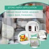 Papier synthétique en poudre de pierre PE pour l'application de l'emballage alimentaire végétal