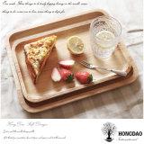 Hongdao personalizó la bandeja de madera natural sólida del tamaño para la bandeja de la porción del alimento Precio al por mayor _E