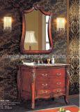 Vanité classique de salle de bains de vanité de salle de bains de Cabinet de salle de bains en bois plein (ADS-618)