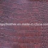 Кожа мебели Semi-PU картины крокодила (QDL-FS006)