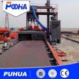 Macchina d'acciaio di granigliatura del trasportatore a rulli