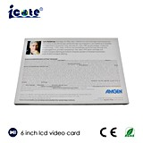 Cadeaux d'entreprise Brochure Vidéo LCD avec écran 6 pouces