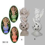 Estatuilla encantadora del ángulo de los querubines para los regalos y las decoraciones