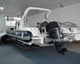 Liya 3.38.3m de Militaire Opblaasbare Boot van Hull van de Glasvezel van het Gebruik voor Verkoop