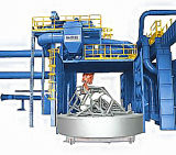 Trolly Turntable SHOT Blasting Machine Ce, ISO9001 Certified