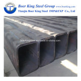 Pipe en acier de grand dos de carbone d'ERW/tubes doux de pipe section noire rectangulaire de cavité