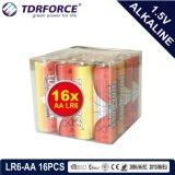 Pile alcaline primaire 1.5volt sec avec ce/ISO 16pcs/boîte de 5 ans Durée de vie