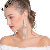 Fashion Pearl perlé Tassel pendaison alliage Long Drop Earrings