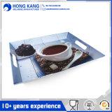 Bandeja plástica de la porción de la melamina del diseño 16/20inch para el café