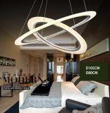 Lampadario a bracci materiale acrilico moderno dell'anello di Foshan per i soffitti alti
