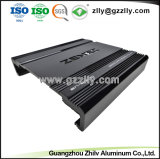 Aluminium extrudé de haute précision pour le dissipateur de chaleur de l'audio de voiture avec la norme ISO9001