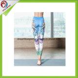 Caneleiras impressas da ioga da aptidão da ginástica das senhoras das cuecas da ioga
