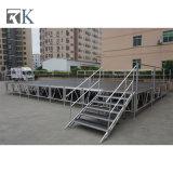 Rkの販売(RK-ASP1X1I)のためのガードレールが付いている携帯用アルミニウムイベントの段階