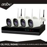 cámara sin hilos del CCTV de la seguridad de la cámara del IP del kit de 720p 4CH WiFi NVR