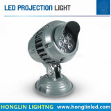 Projector mutável ao ar livre redondo 18W 36W da paisagem do diodo emissor de luz do projector 220volt RGB do projetor