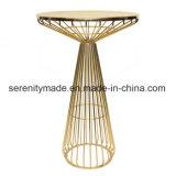 옥외 사용 둥근 금속 와이어 하이바 테이블 가구
