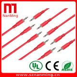 Cable de conexi n de color blanco y negro de 3,5 mm para Eurorack Moduler
