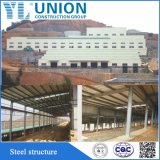 Полуфабрикат фабрика полиняла сарай /Cattle мастерской стальной структуры стальной структуры Prefab полинянный с дверью завальцовки