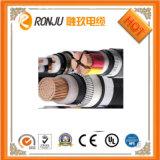 Piso de 3 Núcleos de cable eléctrico de cable de alimentación de hilos de cobre