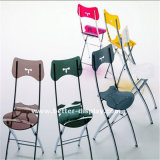 Прозрачный акриловый стул с ногами металла