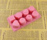 6 moulages de silicones de fondant de gâteau de cavité pour la décoration