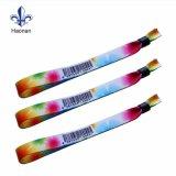 Wristband tejido tela caliente de encargo del festival de la venta