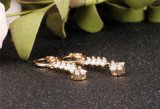 Zirconia CZ ясности цвета золота серег Tory серьги 2018 обруча кристаллический длинние привесные для ювелирных изделий Pendientes Mujer