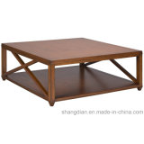 Sale (ST0037)를 위한 아파트 Center Table Design Wooden Square Table