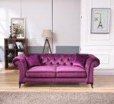 Sofá moderno de Chesterfield de la tela de los muebles del hotel